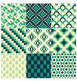 seamless green retro pattern vector image vector image