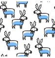 Seamless pattern with cute doodle reindeer vector image vector image