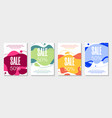 set 4 abstract modern graphic liquid banners vector image