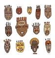 set african masks vector image