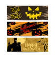 set banners halloween sale with decoration vector image vector image