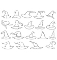 set different witch hats vector image vector image