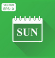 sunday calendar page icon business concept sunday vector image