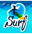 Surfer logo template vector image vector image