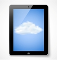 Tablet computer with cloud icon vector image vector image