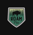 vintage camp patches logo mountain life badge vector image vector image