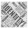 what is identity theft Word Cloud Concept vector image vector image