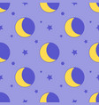 moon seamless pattern child background with stars vector image