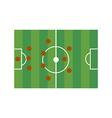 Football field 3-4-3 vector image