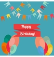 Happy birthday in style flat vector image