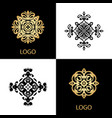 luxury logo template ornamental business sign vector image