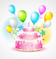 colorful background of birthday vector image