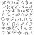 icon doodles vector image