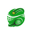 tennis racket and ball icon for sport club vector image