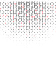 abstract binary code technology background vector image vector image