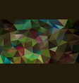 abstract irregular polygonal background peacock vector image vector image