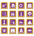 april fools day icons set purple vector image vector image