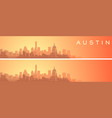 austin beautiful skyline scenery banner vector image