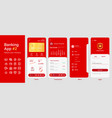 banking app mobile interface user interface layout vector image vector image