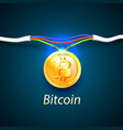 bitcoin money energy cable internet vector image vector image