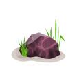 bright heliotrope mineral rock stone design vector image vector image