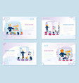business education courses web banners set vector image vector image