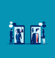 business people meeting with smartphone video vector image