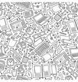 cartoon cute hand drawn school seamless pattern vector image vector image