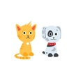 Cat and dog characters vector image vector image
