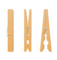 clothes pin set housework and laundry clothespins vector image vector image