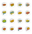 comic colored sound icons set in flat style vector image vector image
