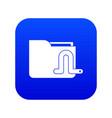 computer worm icon digital blue vector image vector image
