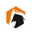 construction logo template vector image vector image