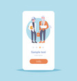 couple architect builders meeting two businessmen vector image