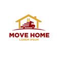 courier move home logo designs vector image vector image