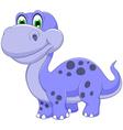 cute dinosaur cartoon smiling vector image