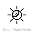 day or night mode icon editable line vector image
