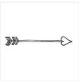 Doodle of cupids arrow vector image