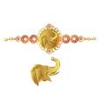 elephant bracelet vector image vector image