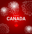 fireworks on red background for national day vector image vector image