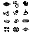 gamble icons set vector image vector image