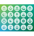 garden shape carved flat icons set vector image