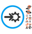 gear integration icon with lovely bonus vector image vector image
