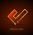 golden technology style symbol design vector image