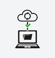 good connection with cloud storages sync data vector image vector image