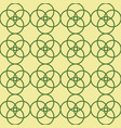 green yellow geometric circles repeat pattern vector image vector image