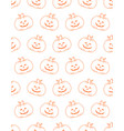 halloween cute background pumpkin vector image