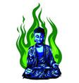 Hand drawn buddha isolated
