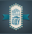Happy fathers day greeting banner with mustache