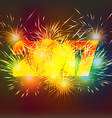 Happy New Year 2017 Fireworks colorful vector image vector image